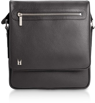 Moreschi Printed Leather Messenger Bag