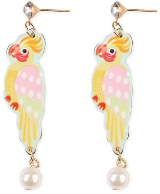 Riah Fashion Colorful Stud-Dangling Earring