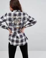 Only Check Shirt With Embroidered Back Detail