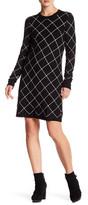 Eliza J Long Sleeve Shift Dress