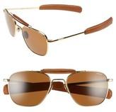 Randolph Engineering Men's 'Aviator Ii' Polarized 55Mm Sunglasses - 23K Gold/ Tan