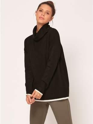 M&Co Cowl neck trim jumper