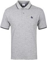 Money Double Stripe Light Grey Short Sleeve Polo Shirt