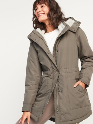 Old Navy Faux-Fur Lined Hooded Parka Coat for Women