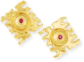 Rubie's Costume Co Jean Mahie De Coupe 22K Gold Earrings with