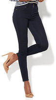 New York & Co. Soho Jeans - High-Waist Curvy Ankle Legging - Dark Midnight Wash