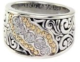 EFFY Balissima Sterling Silver with 18Kt. Yellow Gold Five-Stone Diamond Ring