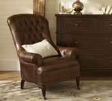 Pottery Barn Radcliffe Tufted Leather Armchair