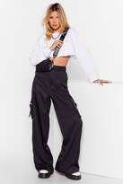 Nasty Gal Womens Off to Work Satin Utility trousers - black - 10, Black
