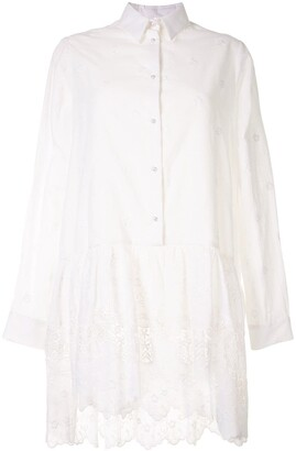 macgraw Dahlia embroidered drop-waist shirtdress