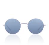 Garrett Leight Seville Silver-Tone Round-Frame Sunglasses