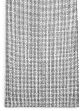 "Martha Stewart Closeout! Collection 72"" Gray Woven Cotton Table Runner, Created for Macy's"