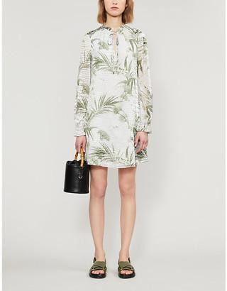 Ted Baker Floral-print devore mini dress