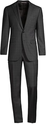Canali Plaid Italian Wool Suit