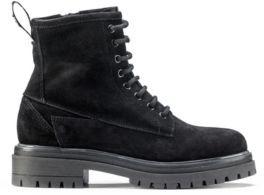 HUGO Italian-made suede boots with lug sole