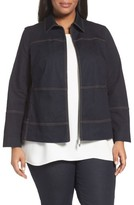 Lafayette 148 New York Plus Size Women's Adaya Primo Denim Jacket