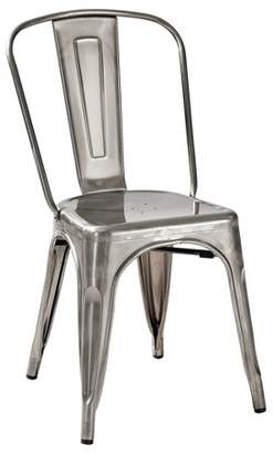 Crosley Amelia Metal Café Chair (Set of 2) Galvanized