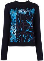 Versus floral print sweatshirt - women - Cotton/Polyester - XS
