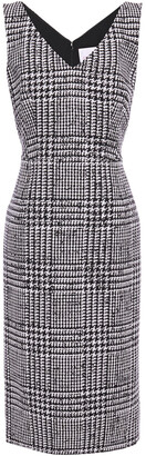 Carolina Herrera Prince Of Wales Checked Wool And Silk-blend Dress