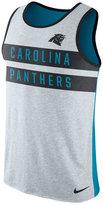 Nike Men's Carolina Panthers Stripe Tri Tank