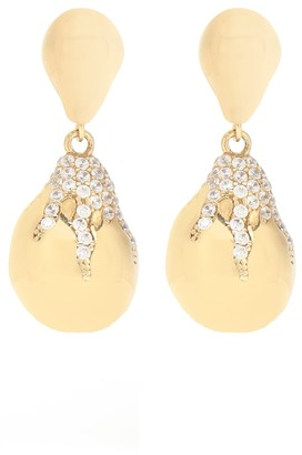 Bottega Veneta Cubic zirconia drop earrings