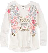 Belle Du Jour Drop-Sleeve Sweater-Knit Top, Girls (7-16)
