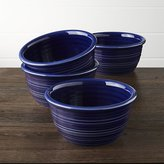 Crate & Barrel Farmhouse Blue Cereal Bowls, Set of 4