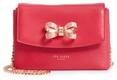 Ted Baker Leorr Bow Leather Crossbody Bag - Pink