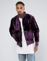 Other Uk Velvet Bomber Jacket