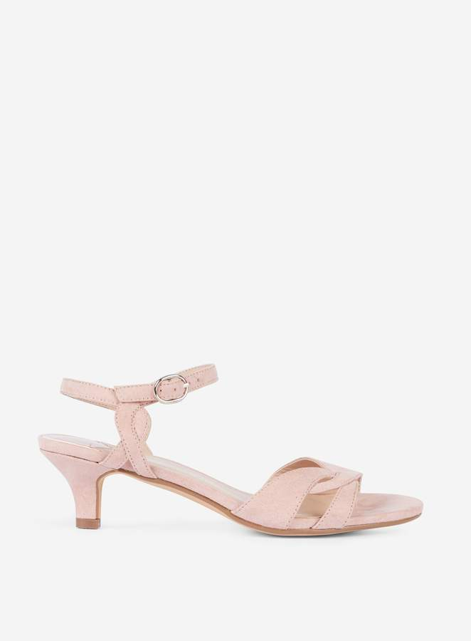 super popular complimentary shipping how to serch Womens Wide Fit 'Sunray' Nude Kitten Heel Sandals