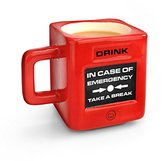 Mustard Take A Break Emergency Cup I Funny Coffee Mug I Office Mug I Coffee Cup I Tea Cup I Ceramic Mug I Special Cup for Coffee I Extra Insulated I Gift Idea for Students I Emergency - Red