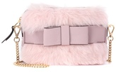 Miu Miu Fur and leather shoulder bag