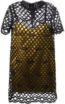 Marc Jacobs 'Giupure Overlay Satin Slip' dress - women - Silk/Polyester - 6