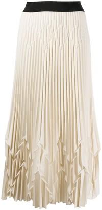 Pierantonio Gaspari High-Waisted Pleated Midi Skirt