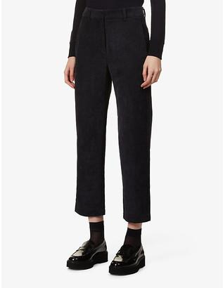 Sessun Princess H straight-leg high-rise corduroy trousers