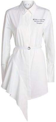 Off-White Cotton Asymmetric Shirt Dress