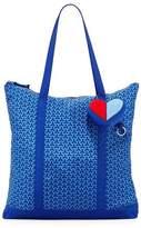 Tory Sport Heart Packable Key Fob Shoulder Tote Bag