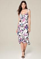 Bebe Open Back Midi Dress
