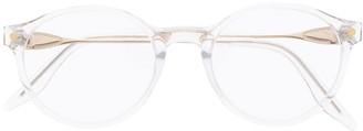 S'nob Faded Round Frame Sunglasses