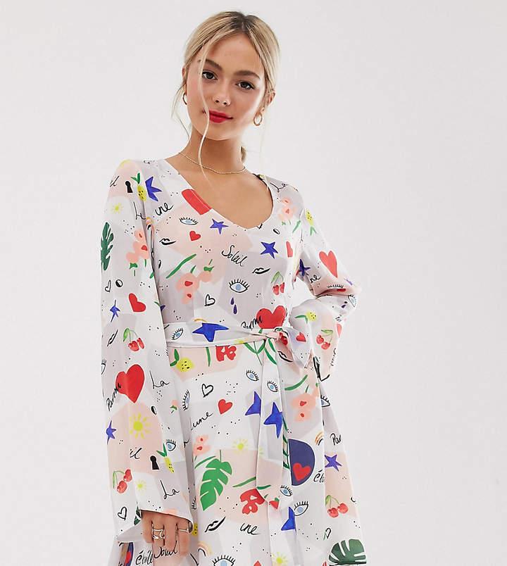 Lily & Lionel Exclusive micro mini dress in daydream print