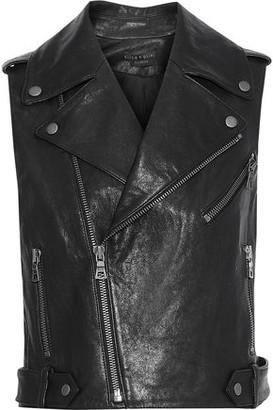 Alice + Olivia Cody Cropped Leather Biker Vest