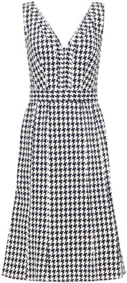 Alexander McQueen Houndstooth Denim Dress