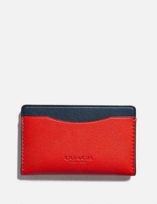 Coach Small Card Case In Colorblock