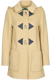 Benetton 2BZP53655 women's Coat in Beige