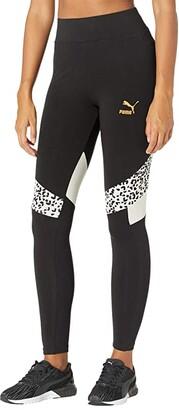 Puma TFS High-Rise Leggings Black/Animal) Women's Clothing