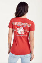 True Religion Double Puff Red Womens Tee
