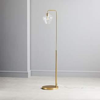 west elm Sculptural Glass Geo Floor Lamp - Clear
