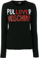 Love Moschino logo print jumper