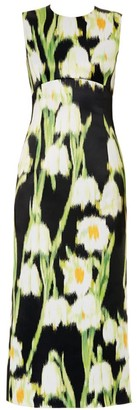 Carolina Herrera Sleeveless Floral Midi Dress