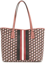 Bally patterned striped tote
